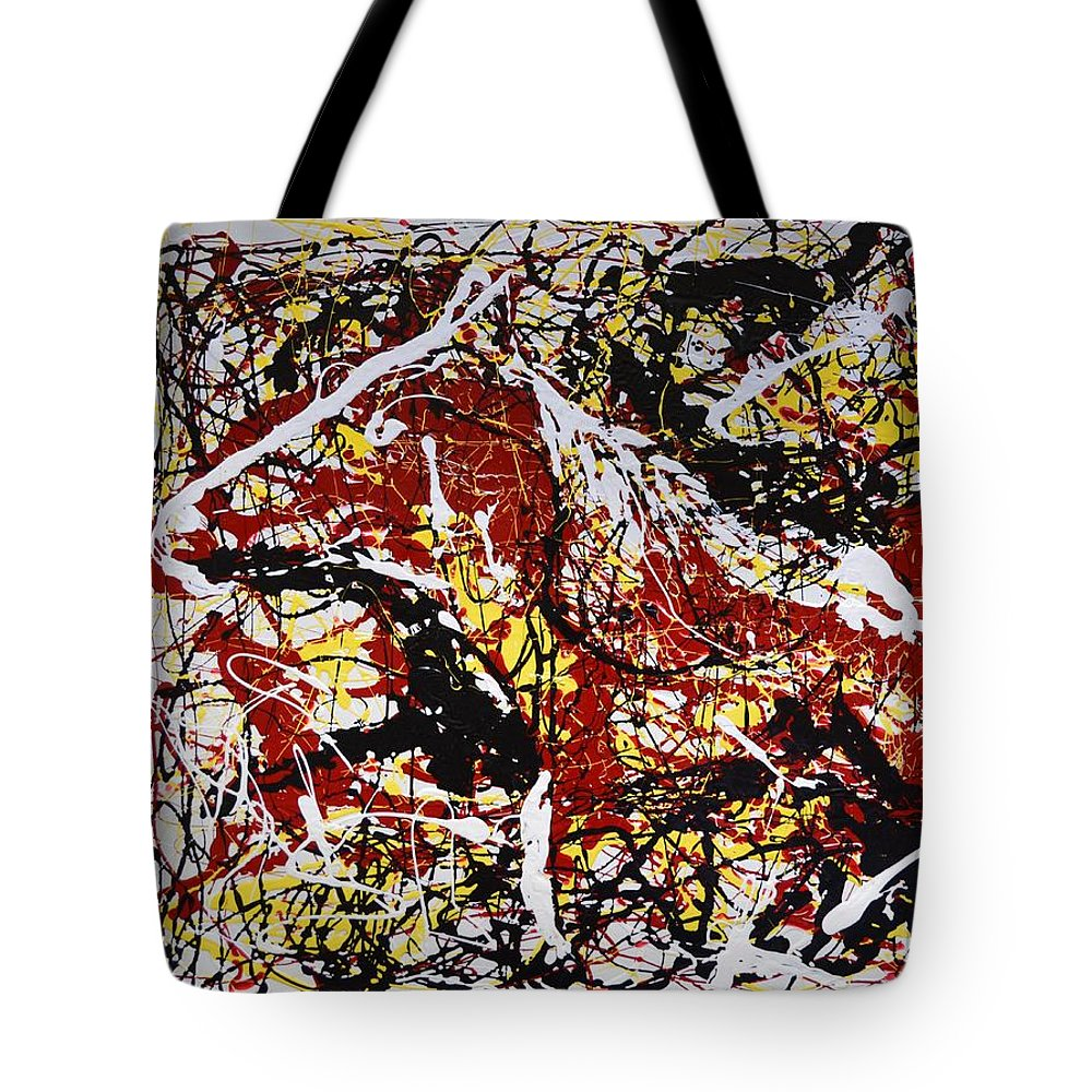 Impressionist Painting Tote Bag featuring the painting Dos Caballos by J R Seymour