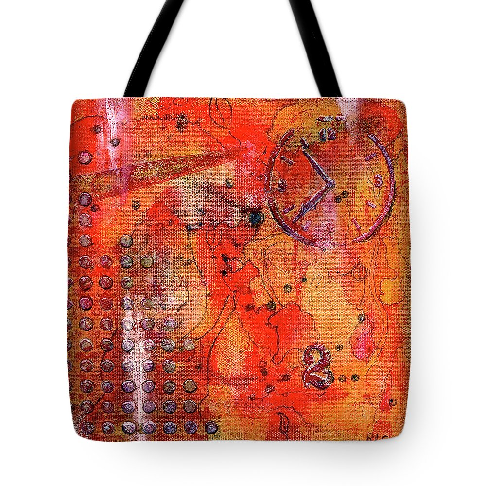 Dot Of Time Tote Bag featuring the painting Dot Of Time by Bellesouth Studio