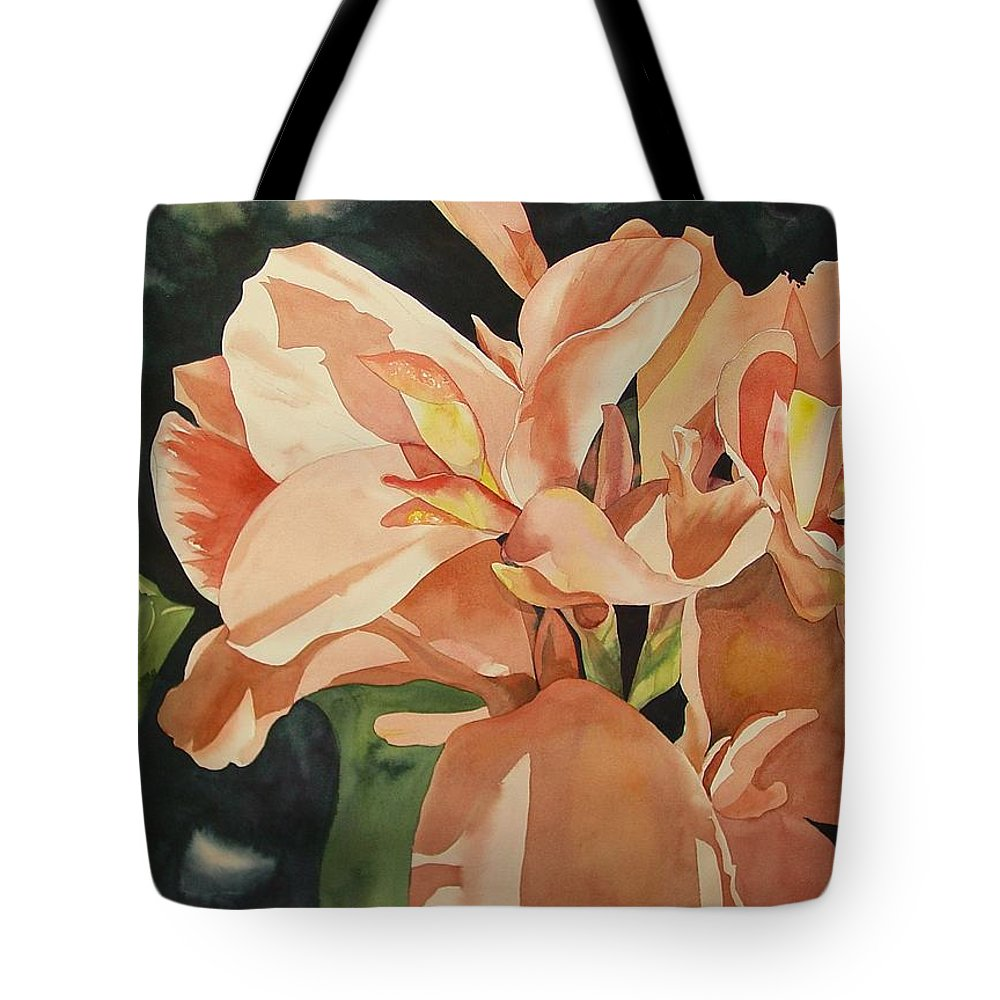 Floral Tote Bag featuring the painting Dot's Favorites by Marlene Gremillion