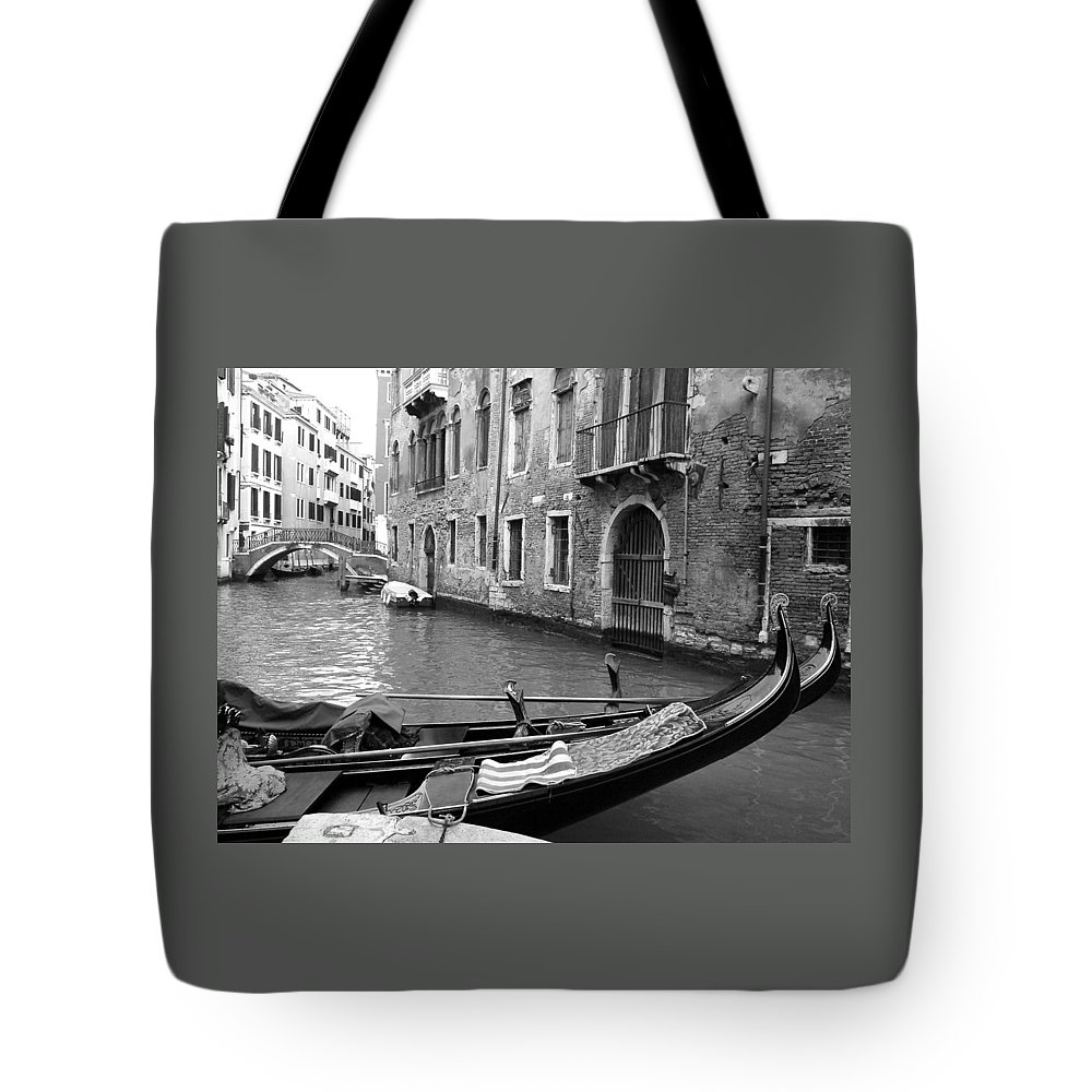 Venice Tote Bag featuring the photograph Double Parked by Donna Corless