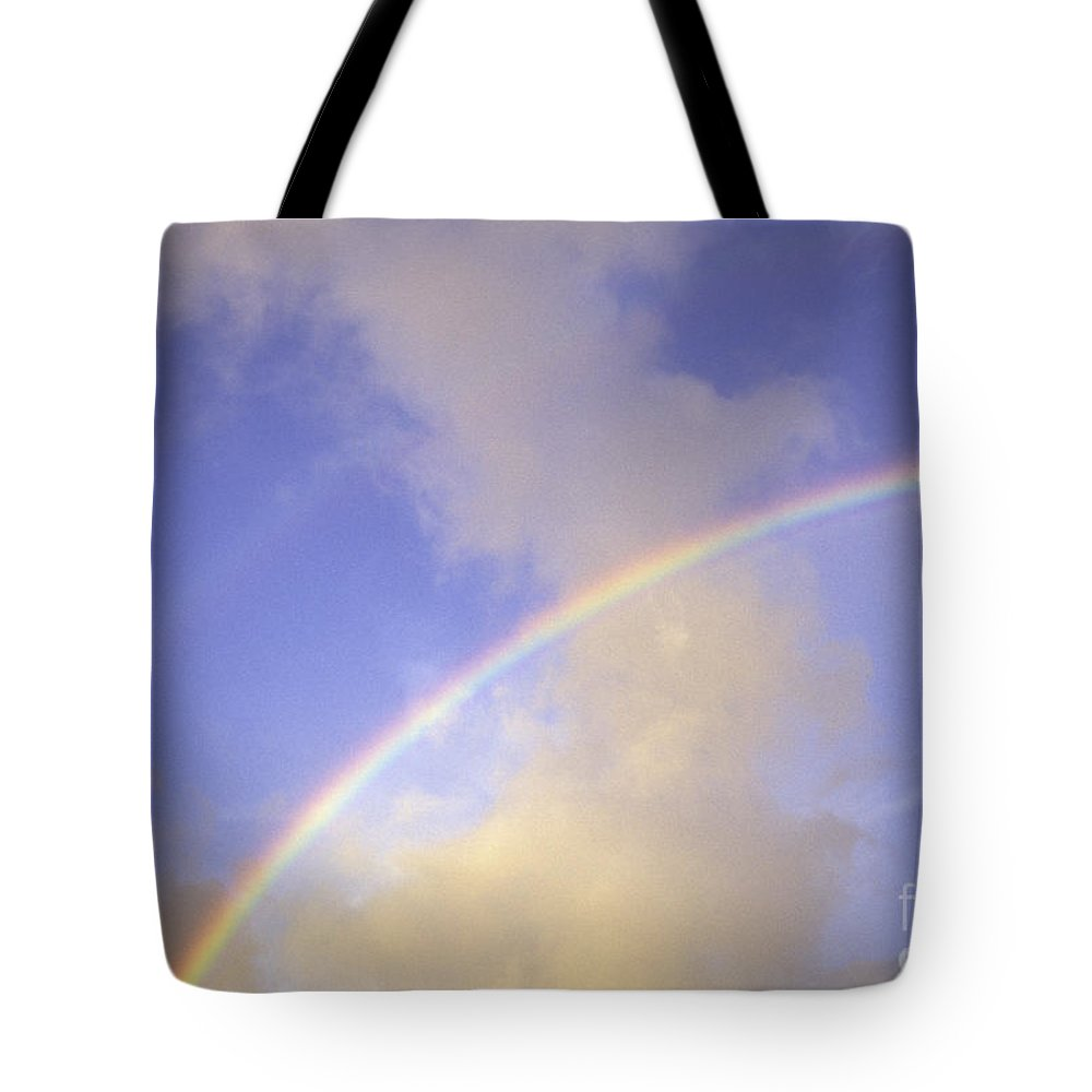 Above Tote Bag featuring the photograph Double Rainbows by Carl Shaneff - Printscapes