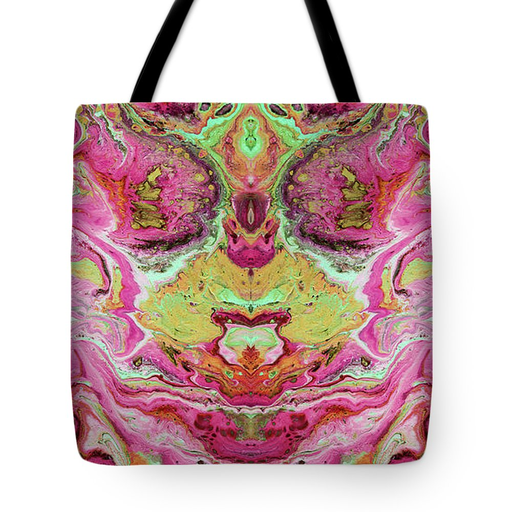 Abstract Tote Bag featuring the painting Double Rhapsody- Art By Linda Woods by Linda Woods