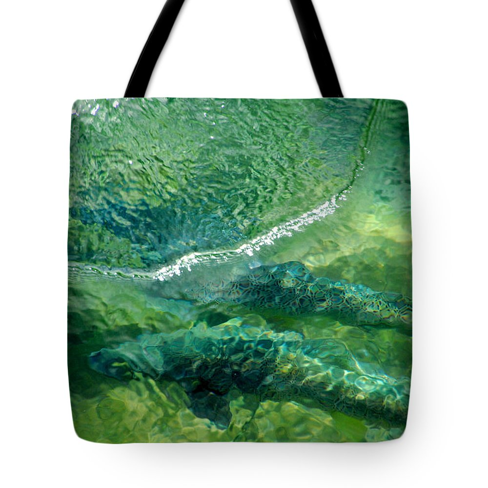 Water Tote Bag featuring the photograph Double Trouble by Donna Blackhall