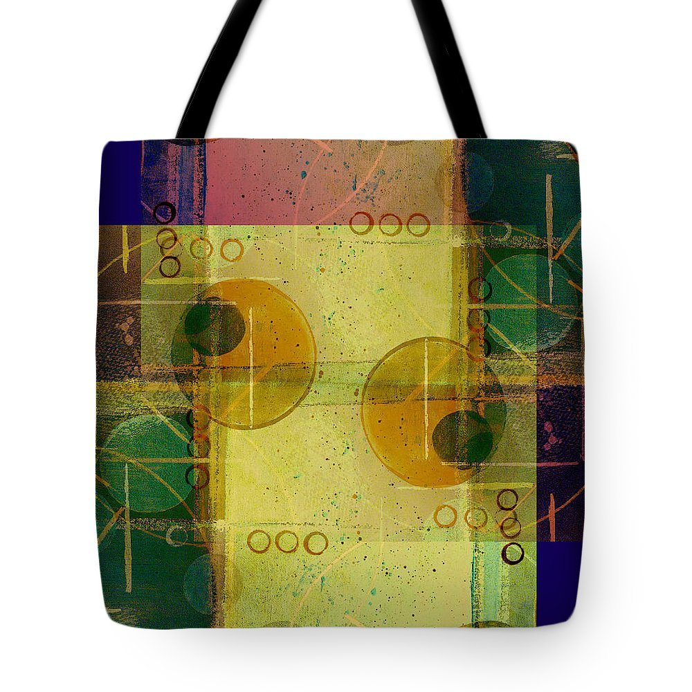 Abstract Tote Bag featuring the digital art Double Vision by Ruth Palmer