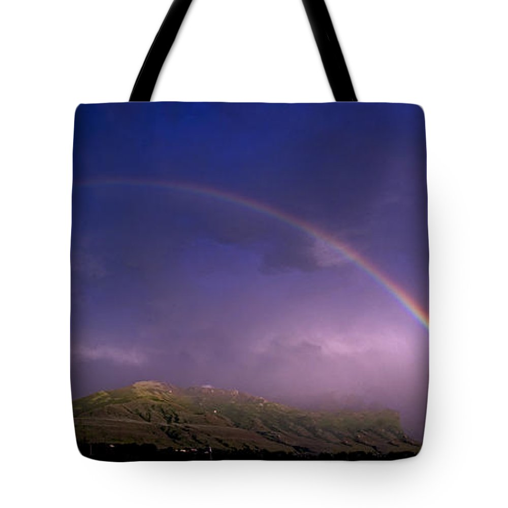 Rainbows Tote Bag featuring the photograph Doubled Up by Eric Nelson