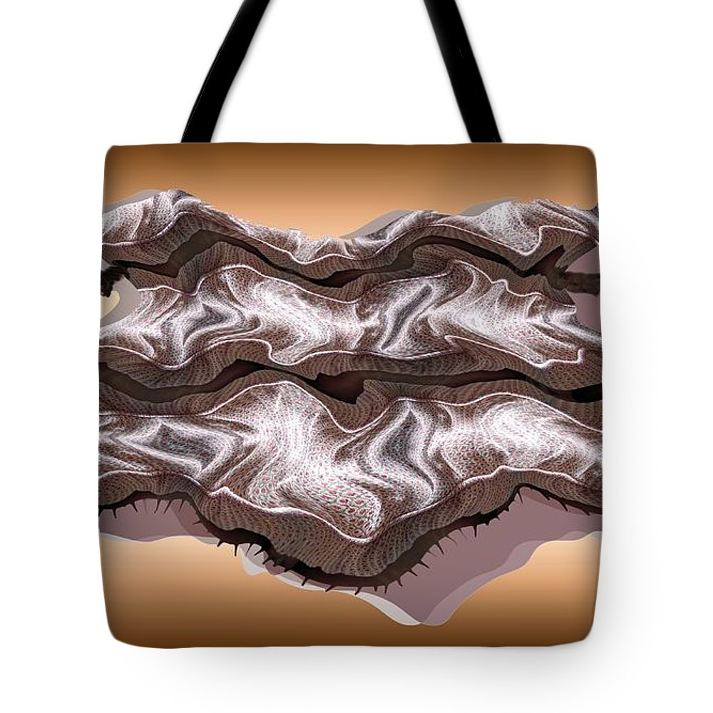 Abstract Tote Bag featuring the digital art Doubt Its Redoubt by Ron Bissett