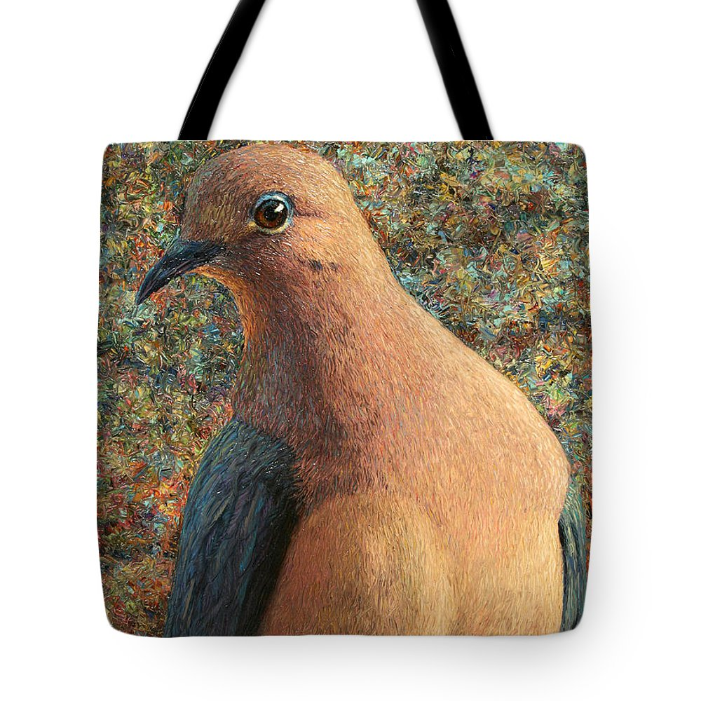 Dove Tote Bag featuring the painting Dove by James W Johnson