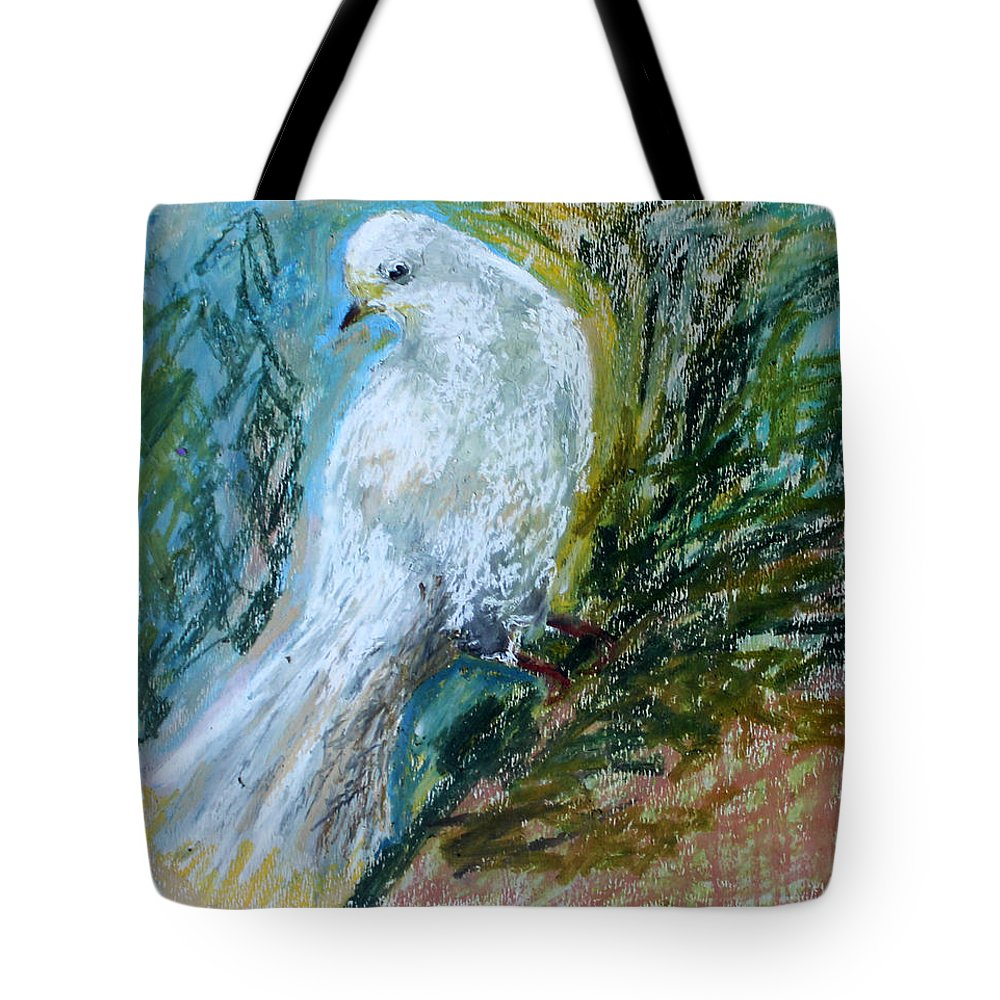 Dove Tote Bag featuring the painting Dove by Olesya Sytnyk