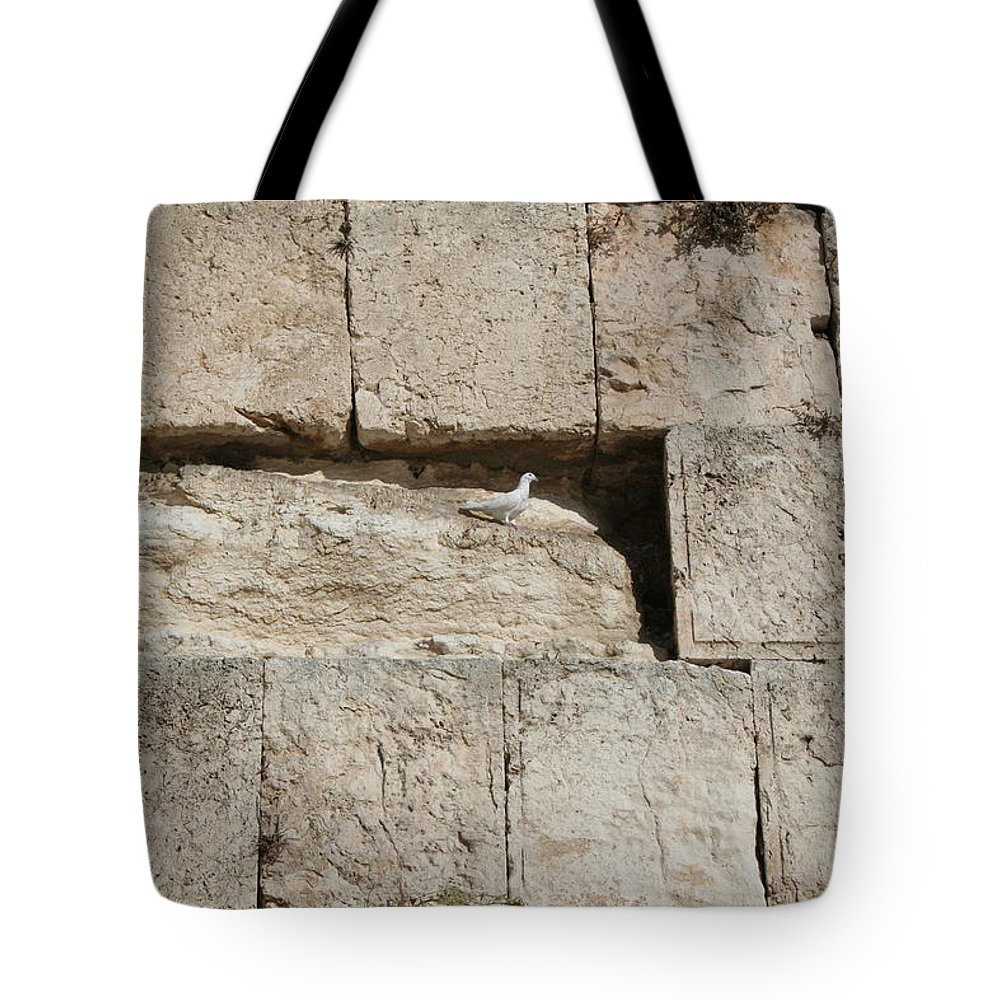 Kotel Tote Bag featuring the photograph Dove On The Kotel by Eliyahu Shear