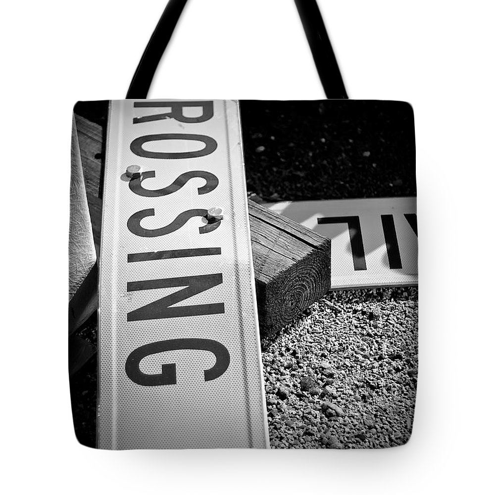 Black And White Photograph Tote Bag featuring the photograph Down And Out by Mike Oistad