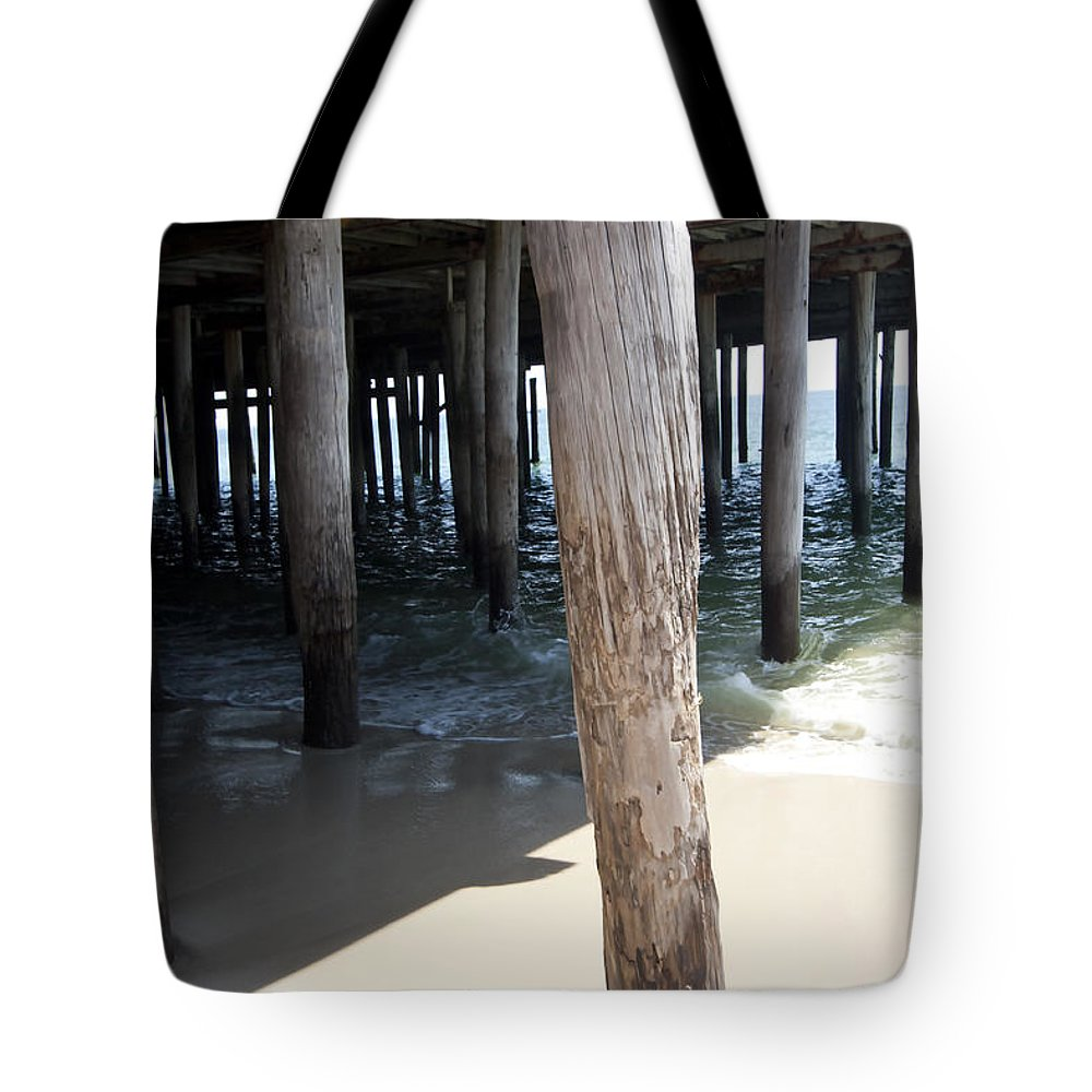 Landscape Tote Bag featuring the photograph Down By The Sea by Mary Haber