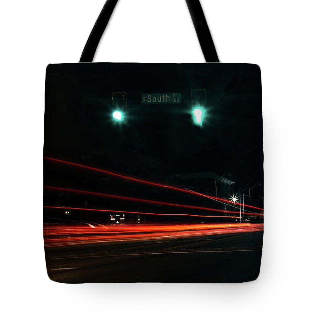 Long Exposure Tote Bag featuring the photograph Down South Street by Ant Pruitt