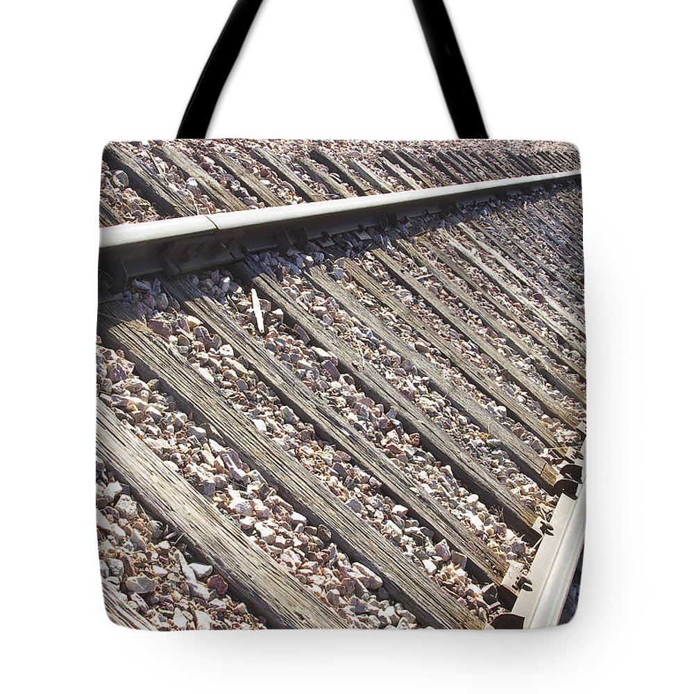Railroad Tote Bag featuring the photograph Down The Railroad by James BO Insogna