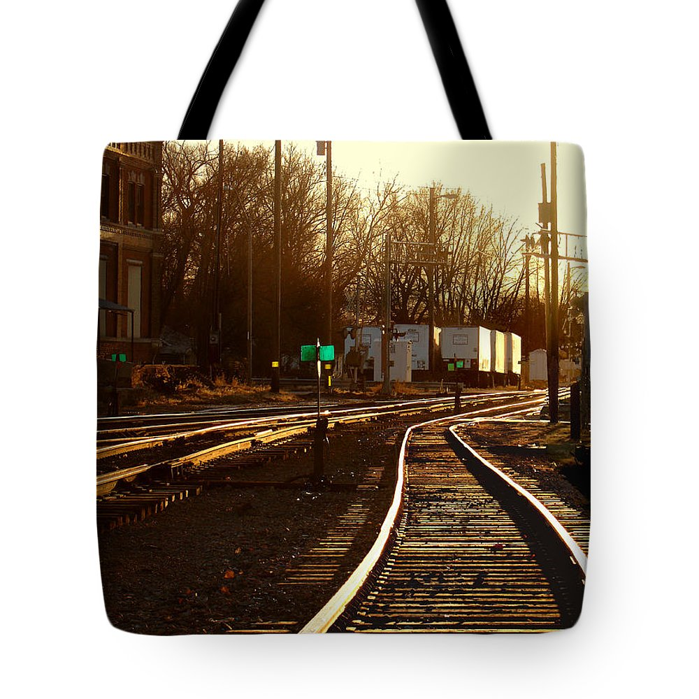 Landscape Tote Bag featuring the photograph Down The Right Track 2 by Steve Karol