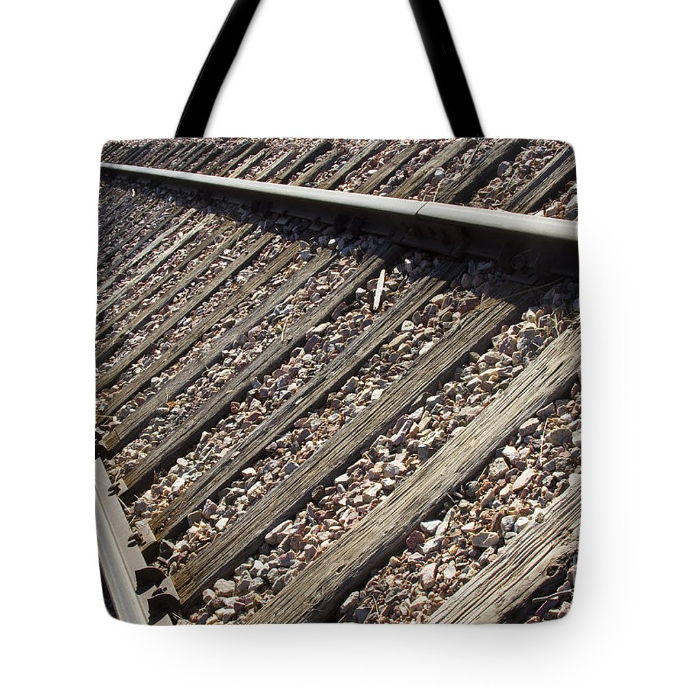 Train Tote Bag featuring the photograph Down The Tracks by James BO Insogna