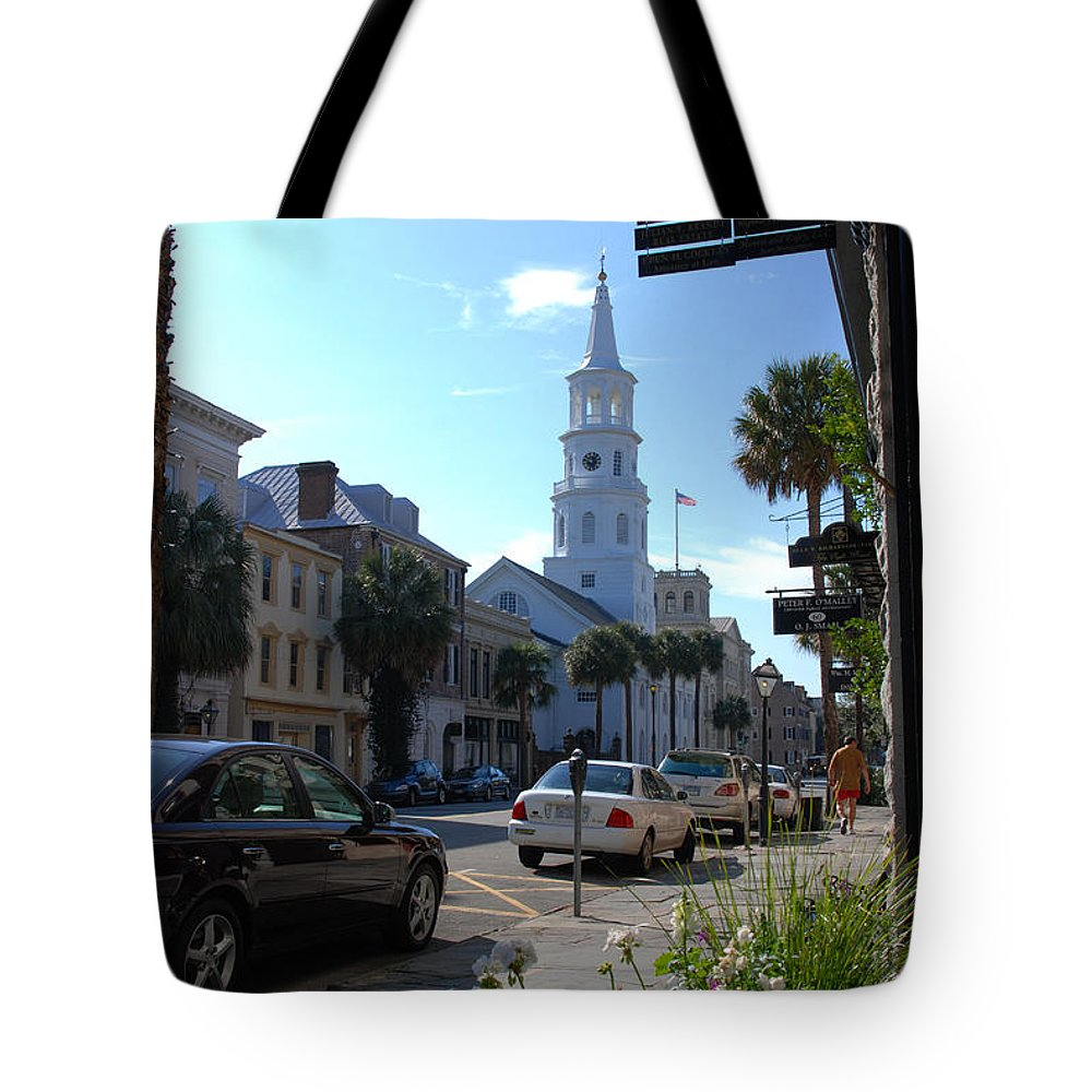 Photography Tote Bag featuring the photograph Down Town Charleston by Susanne Van Hulst