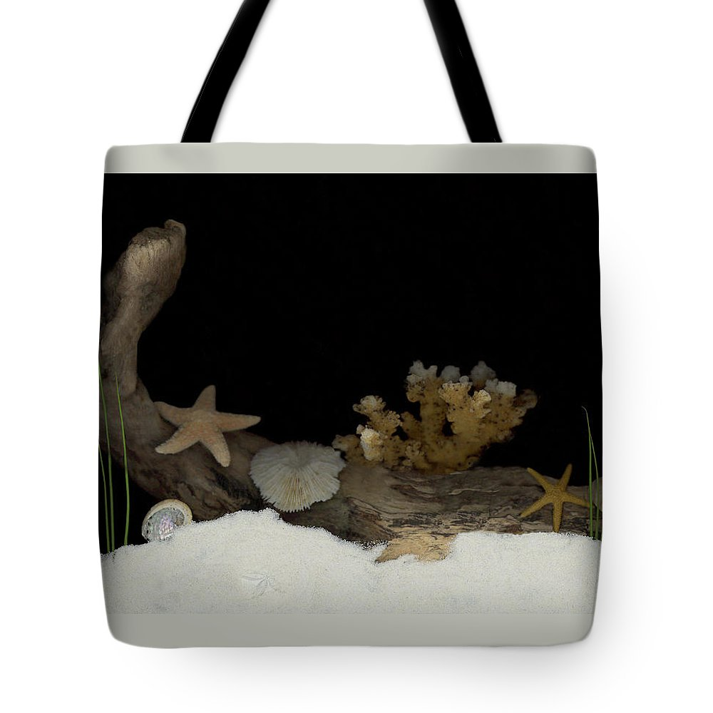 Shells Tote Bag featuring the mixed media Down Under by Sandi F Hutchins