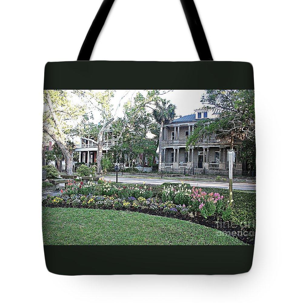Landscapes Tote Bag featuring the photograph Downtown Beaufort by Ally Lovensheimer