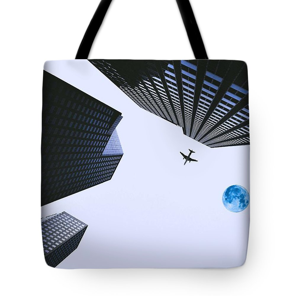 Nature Tote Bag featuring the painting Downtown by Celestial Images