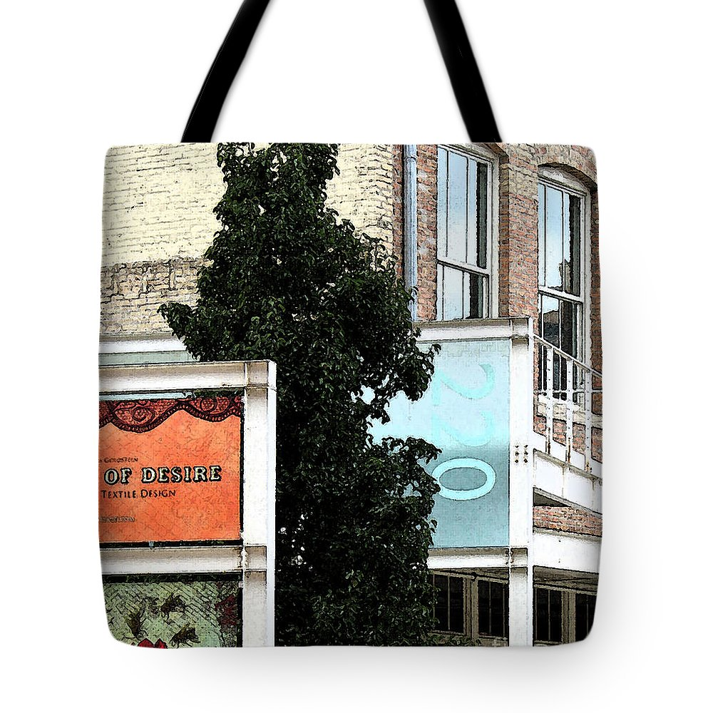Collage Tote Bag featuring the photograph Downtown Collage 6 by Gary Everson