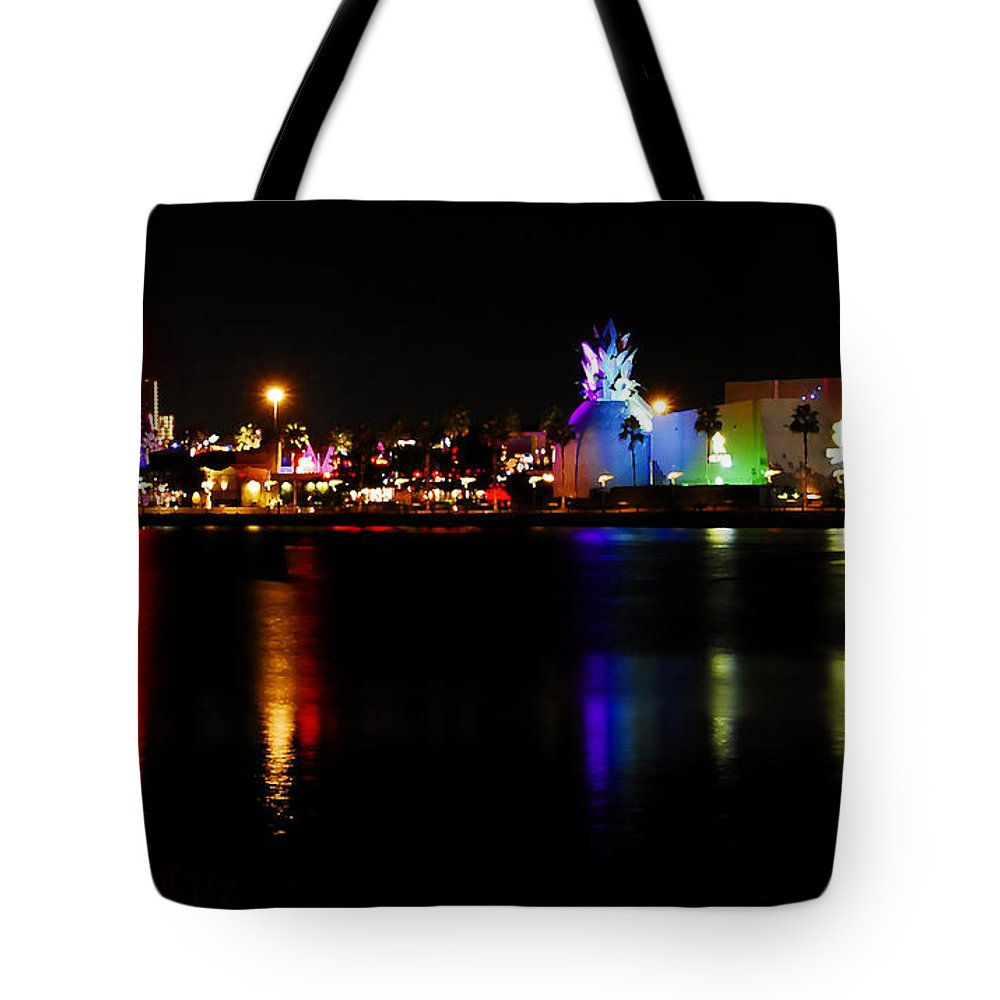 Downtown Disney Tote Bag featuring the photograph Downtown Disney by David Lee Thompson