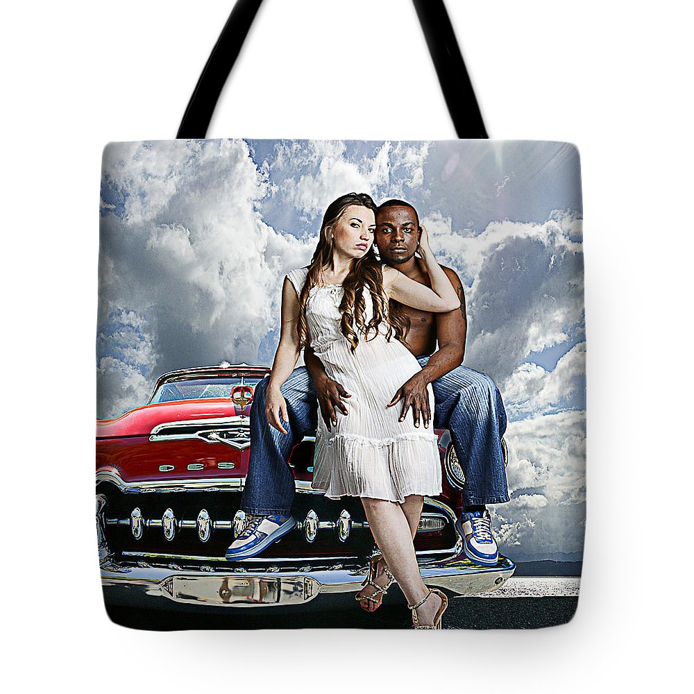 Auto Tote Bag featuring the photograph Downtown by Jeff Burgess