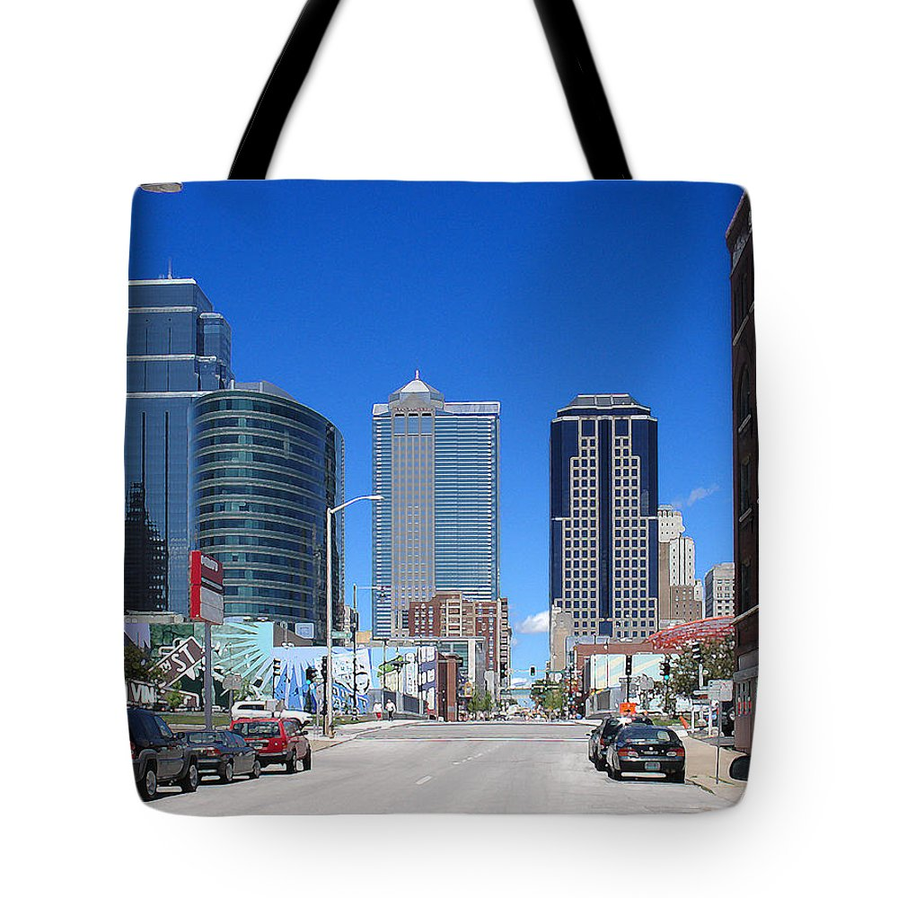 City Tote Bag featuring the photograph Downtown Kansas City by Steve Karol