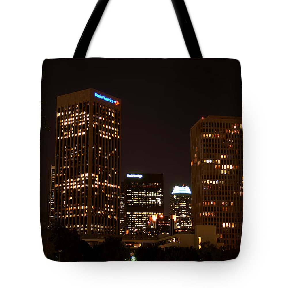 Clay Tote Bag featuring the photograph Downtown L.a. In Hdr by Clayton Bruster