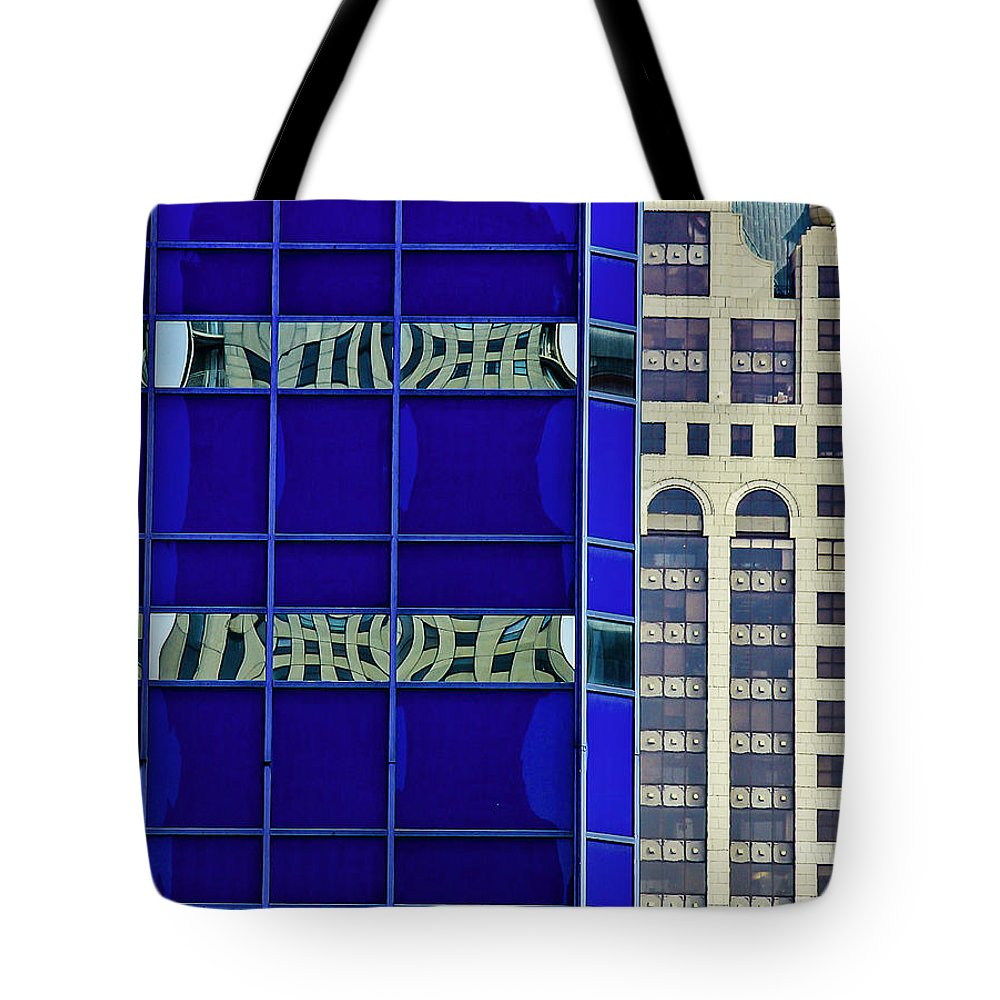 Abstract Tote Bag featuring the photograph Downtown Mke by Michael Nowotny