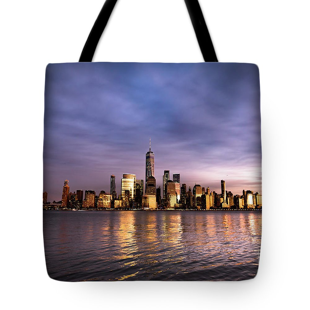 World Trade Center Tote Bag featuring the photograph Downtown Nyc by Zawhaus Photography