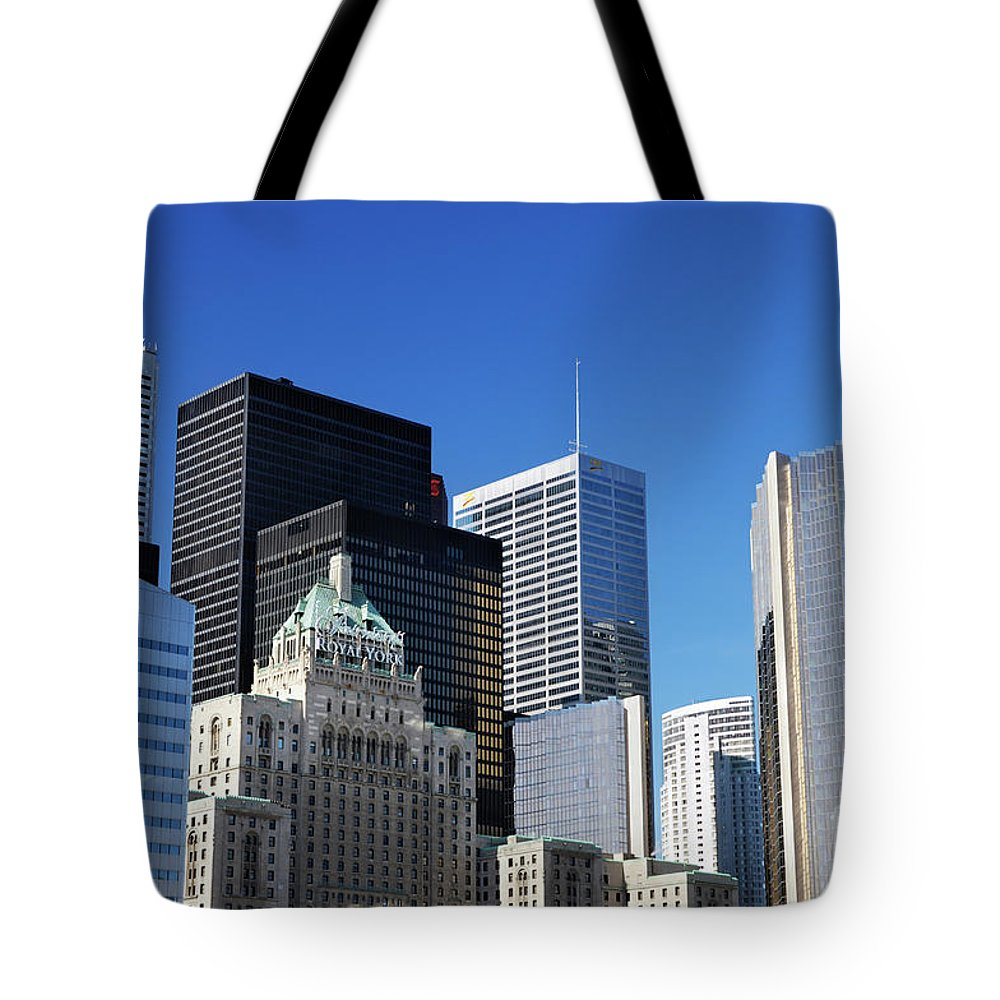 Toronto Tote Bag featuring the photograph Downtown Toronto by Oleksiy Maksymenko