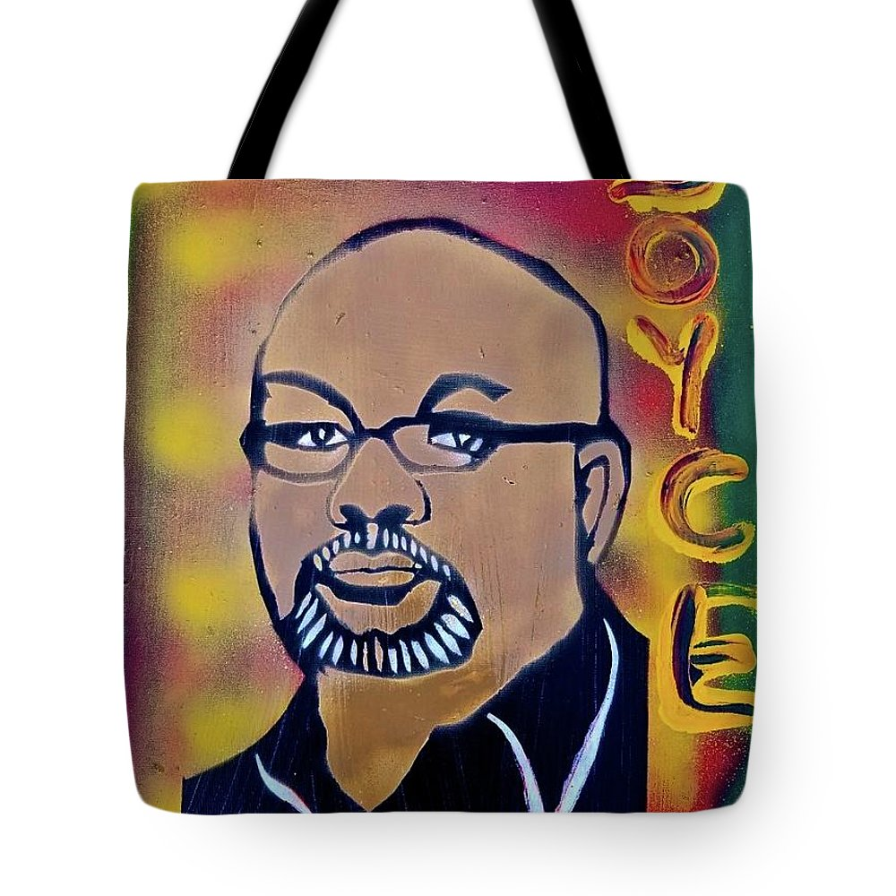 Dr.boyce Watkins Tote Bag featuring the painting Dr. Boyce Watkins by Tony B Conscious