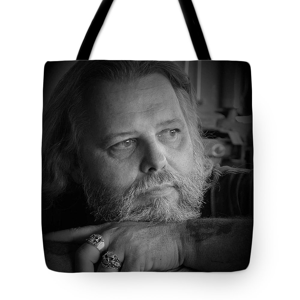 Biker Tote Bag featuring the photograph Dr. Nick by D'Arcy Evans