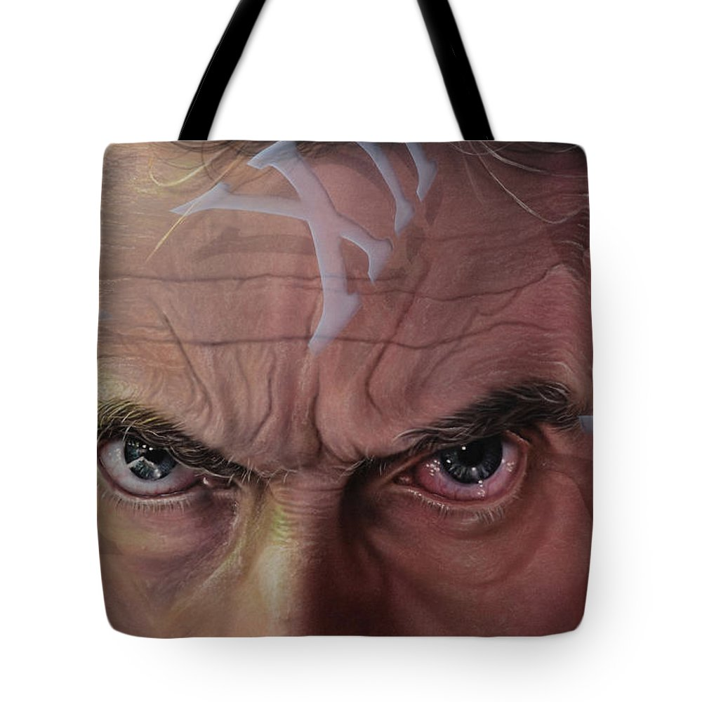 Drwho Tote Bag featuring the painting Dr. Who by Robert Haasdijk