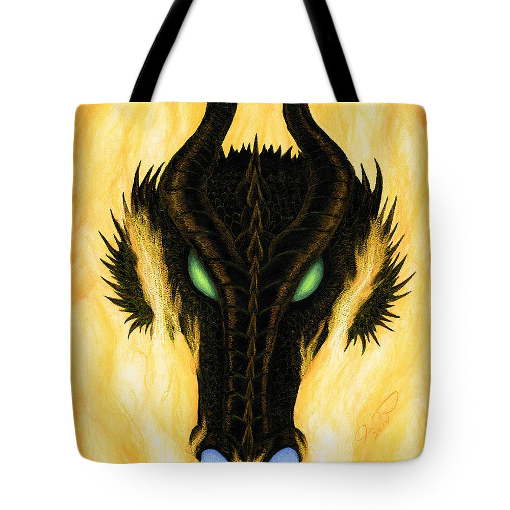 Dragon Tote Bag featuring the pastel Draco by Joy Landa