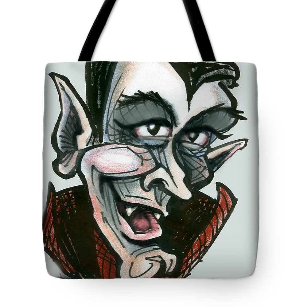 Dracula Tote Bag featuring the greeting card Dracula by Kevin Middleton