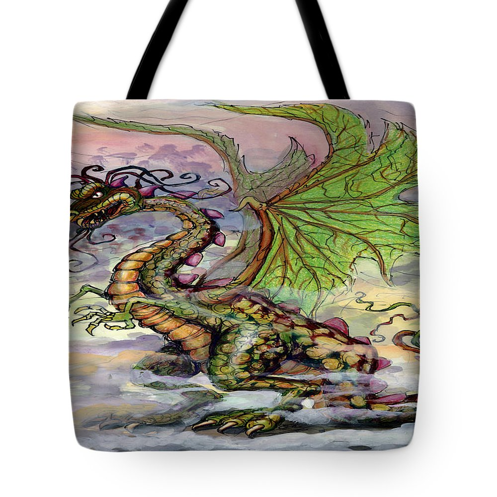 Dragon Tote Bag featuring the painting Dragon by Kevin Middleton
