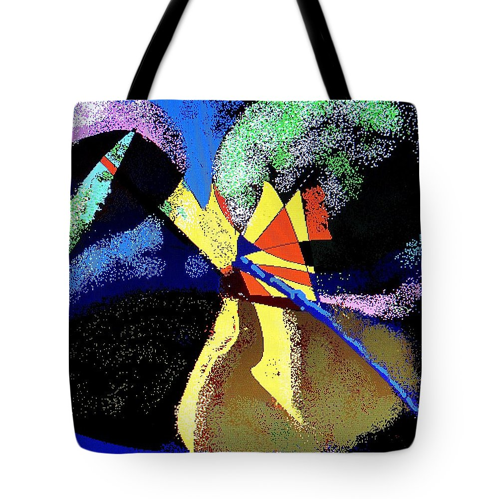 Digital Drawing Tote Bag featuring the digital art Dragon Killer by Ian MacDonald