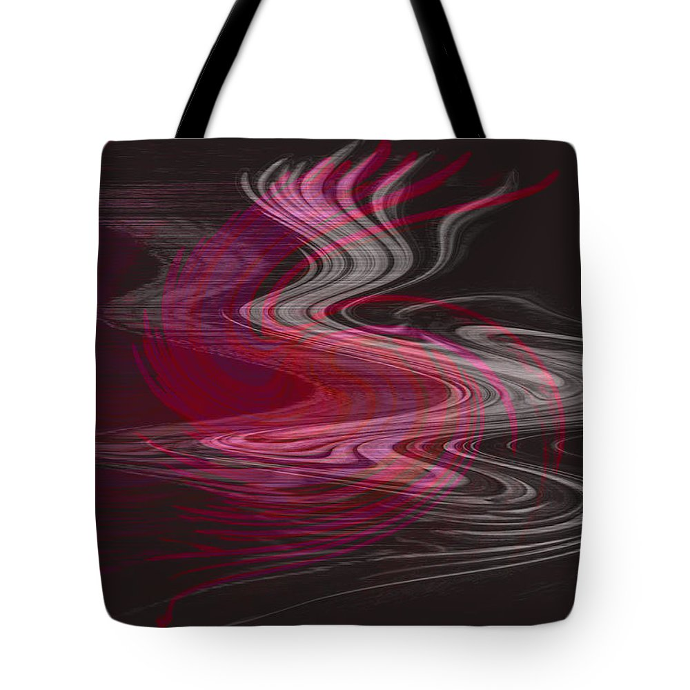 Abstract Tote Bag featuring the digital art Dragon Queen by Linda Sannuti