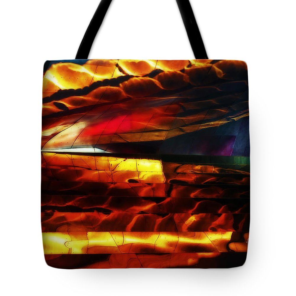 Reflection Tote Bag featuring the photograph Dragon Scales by Frank Larkin