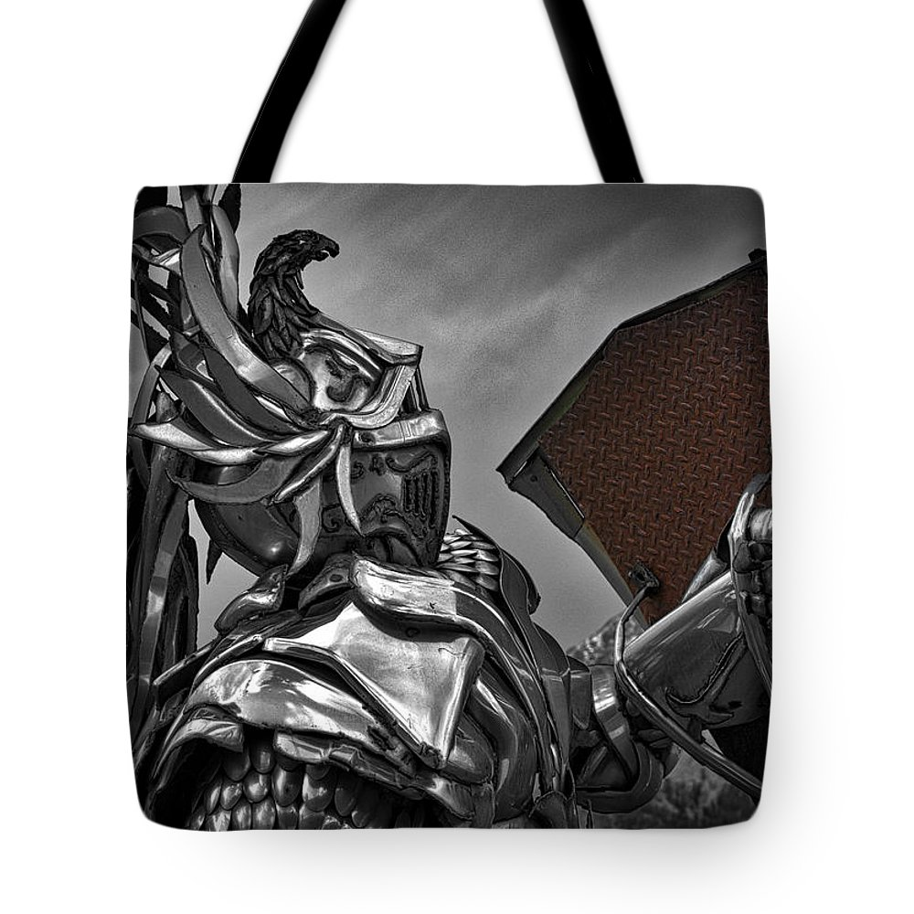 Photography Tote Bag featuring the photograph Dragon Slayer by Raven Steel Design