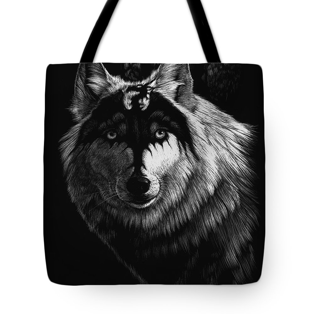 Wolf Tote Bag featuring the painting Dragon Wolf by Stanley Morrison