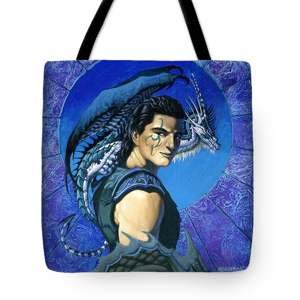 Dragon Tote Bag featuring the painting Dragoneer by Stanley Morrison