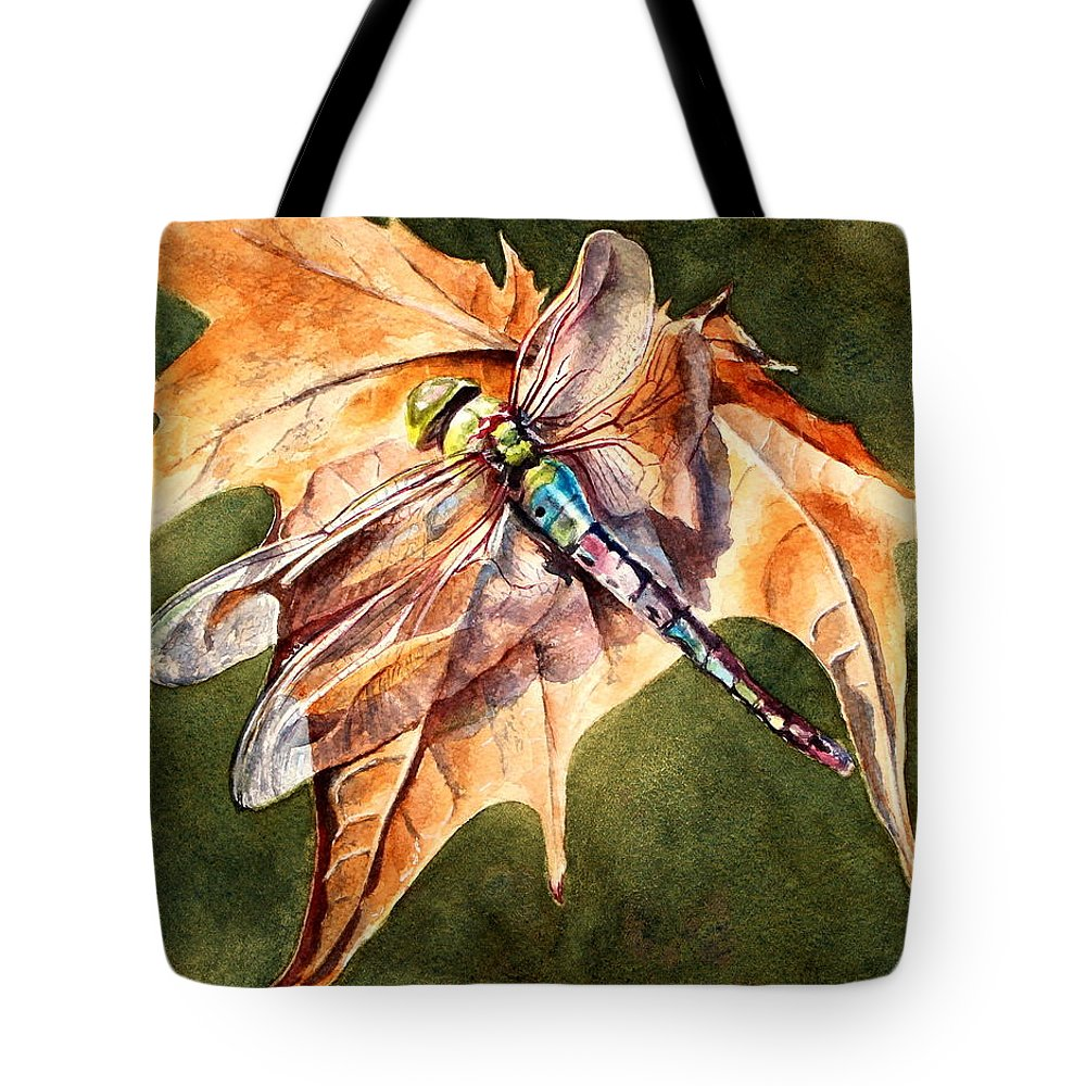 Dragonfly Tote Bag featuring the painting Dragonfly 2 by Lisa Pope