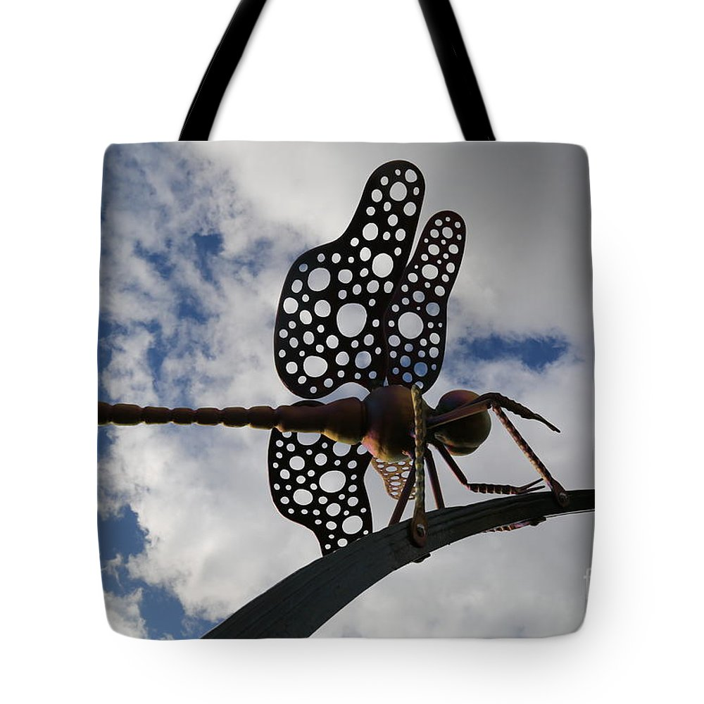 Dragonfly Tote Bag featuring the photograph Dragonfly by Sandy Henderson