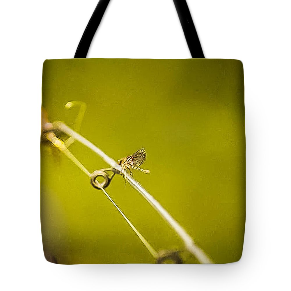Tote Bag featuring the photograph Dragonfly by Sunshine Nelson