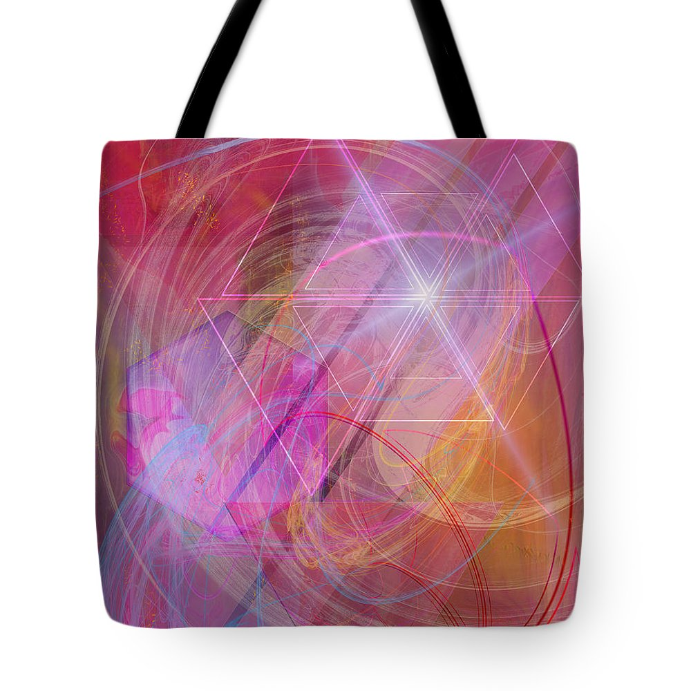 Dragon's Gem Tote Bag featuring the digital art Dragon's Gem by John Beck
