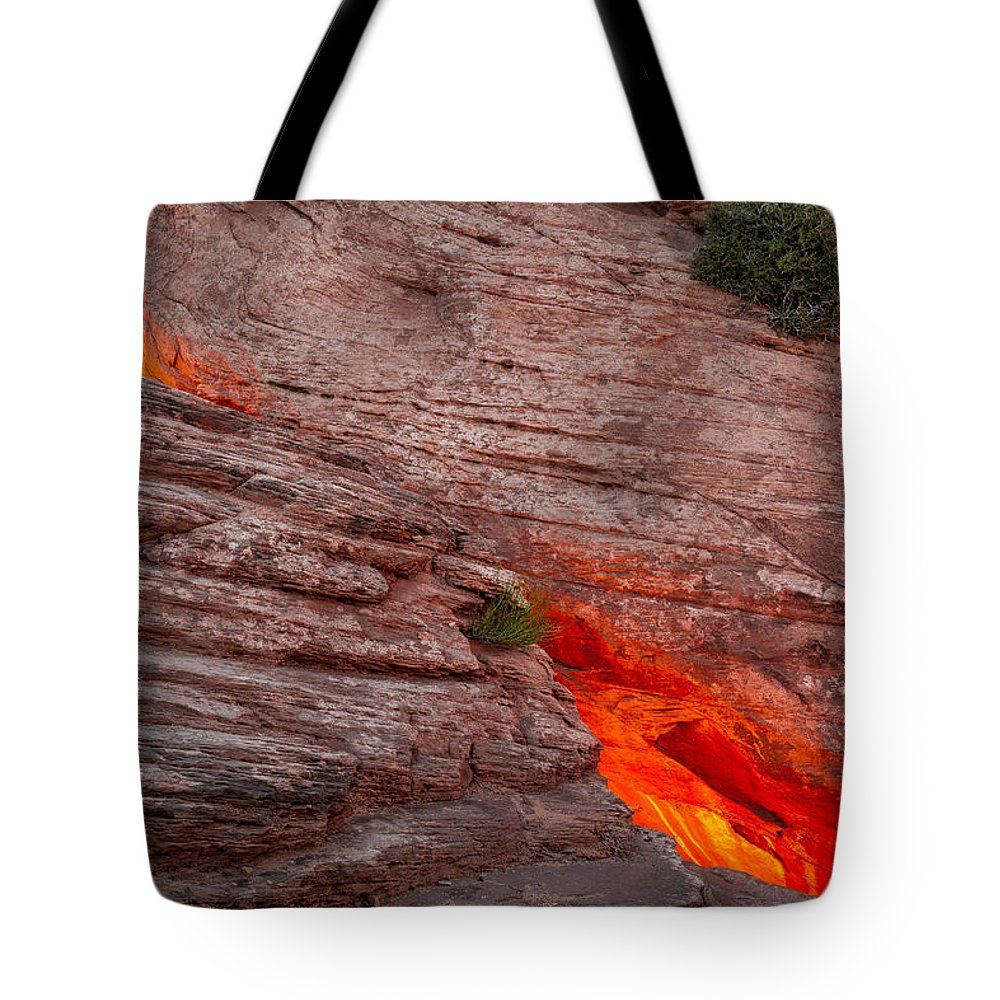 Landscape Tote Bag featuring the photograph Dragon's Keep by Matthew Wert