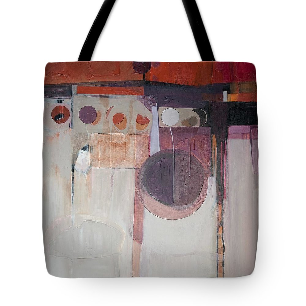 Abstract Tote Bag featuring the painting Drama by Marlene Burns