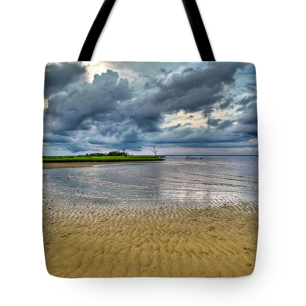 Beach Tote Bag featuring the photograph Dramatic Cloudscape by Rich Leighton